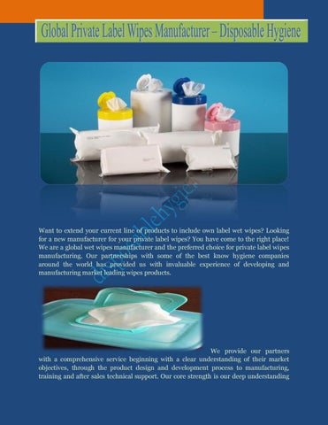High Quality Wipe Products – Disposable Hygiene by Disposable