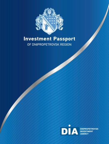 Investment Passport Of Dnipropetrovsk Region By Dnipropetrovsk