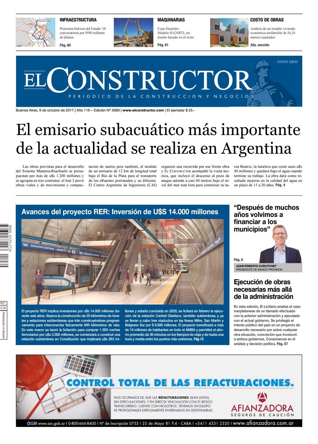 El Constructor 9/10/2017 - N° 5069 Año 116 by ELCO Editores - issuu