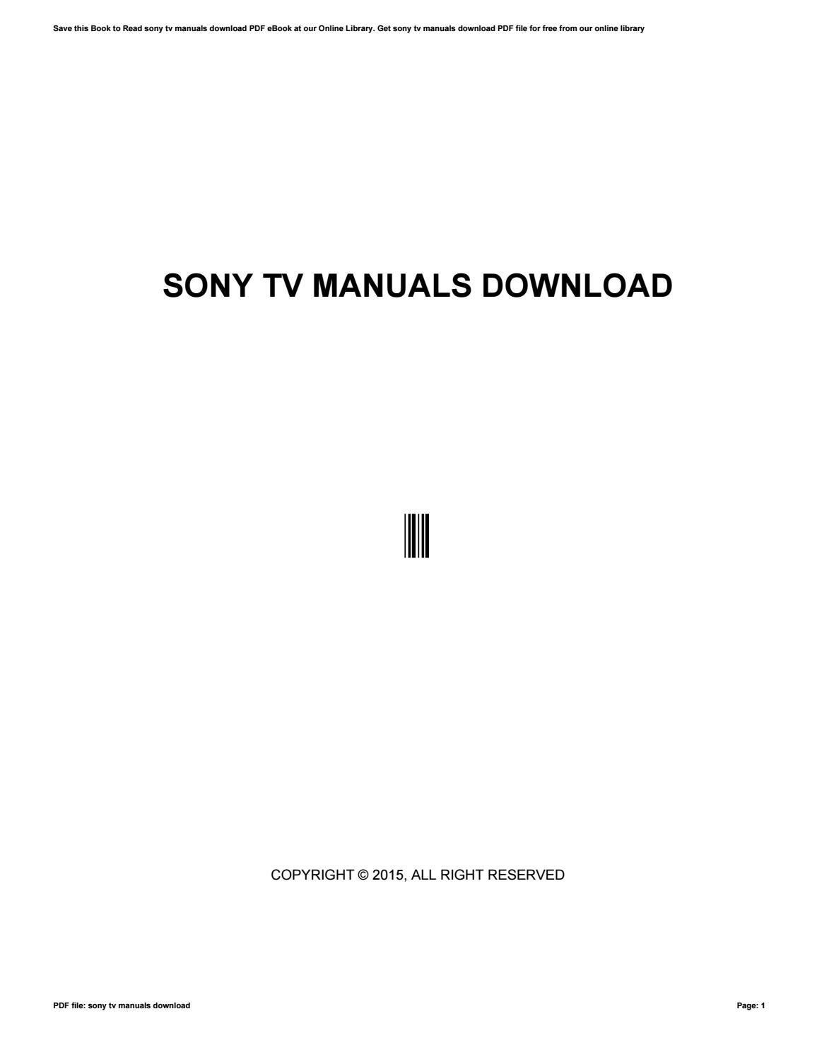sony tv manuals download by dasmin89jsoiahj issuu rh issuu com Westinghouse TV Manual Sony TV Manual 2010