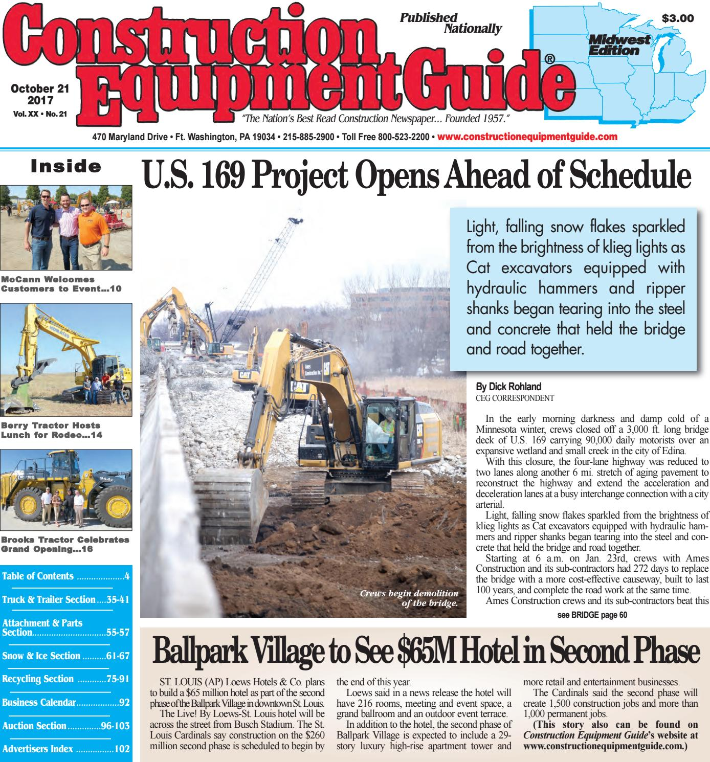 Midwest 21 October 21, 2017 by Construction Equipment Guide