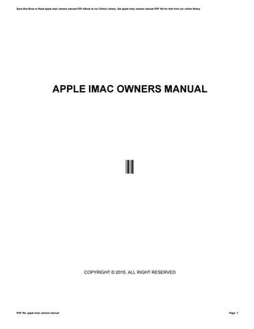 apple imac owners manual by rahmad72kosea issuu rh issuu com imac 2017 owners manual iMac User Manual PDF