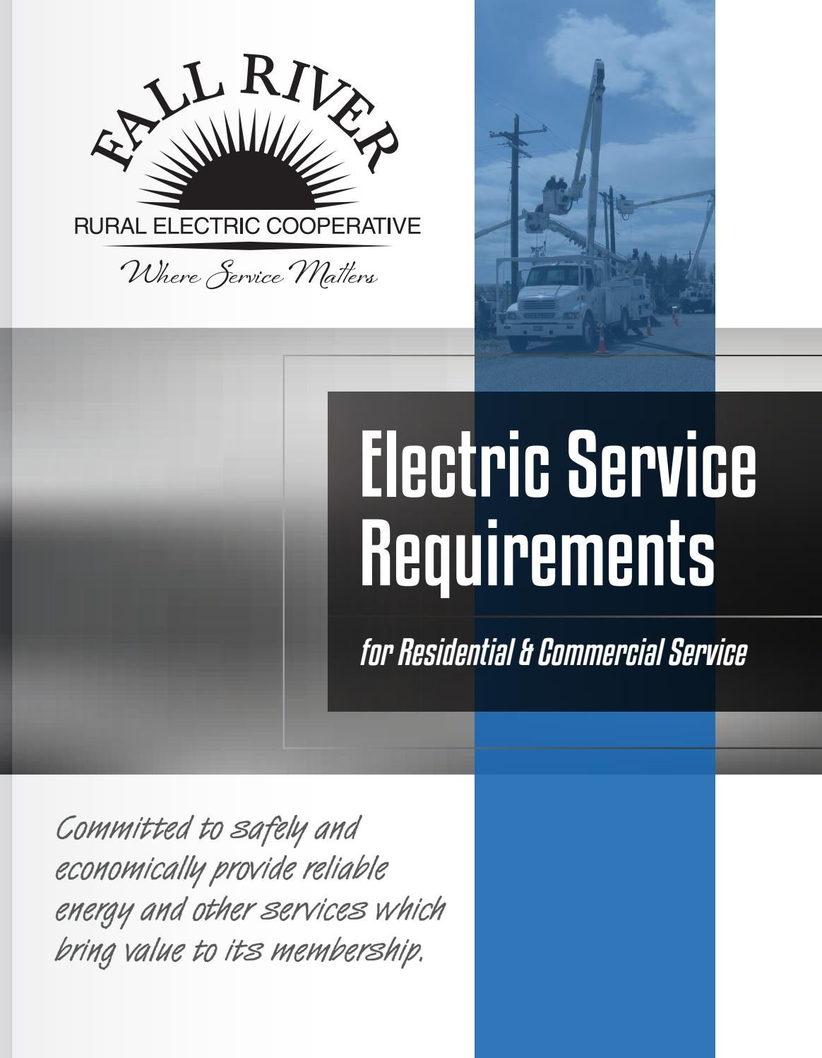 Fall River Rural Electric Cooperative Electric Service Requirments