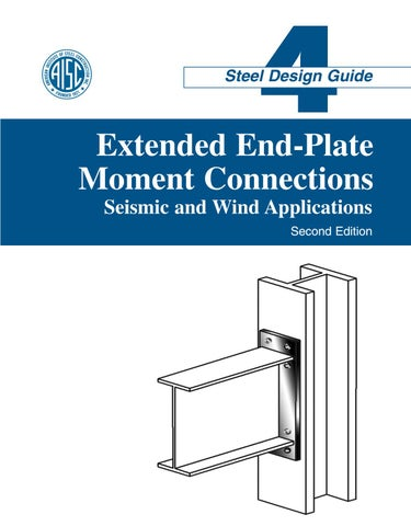 Aisc design guide 04 extended end plate moment connections ...