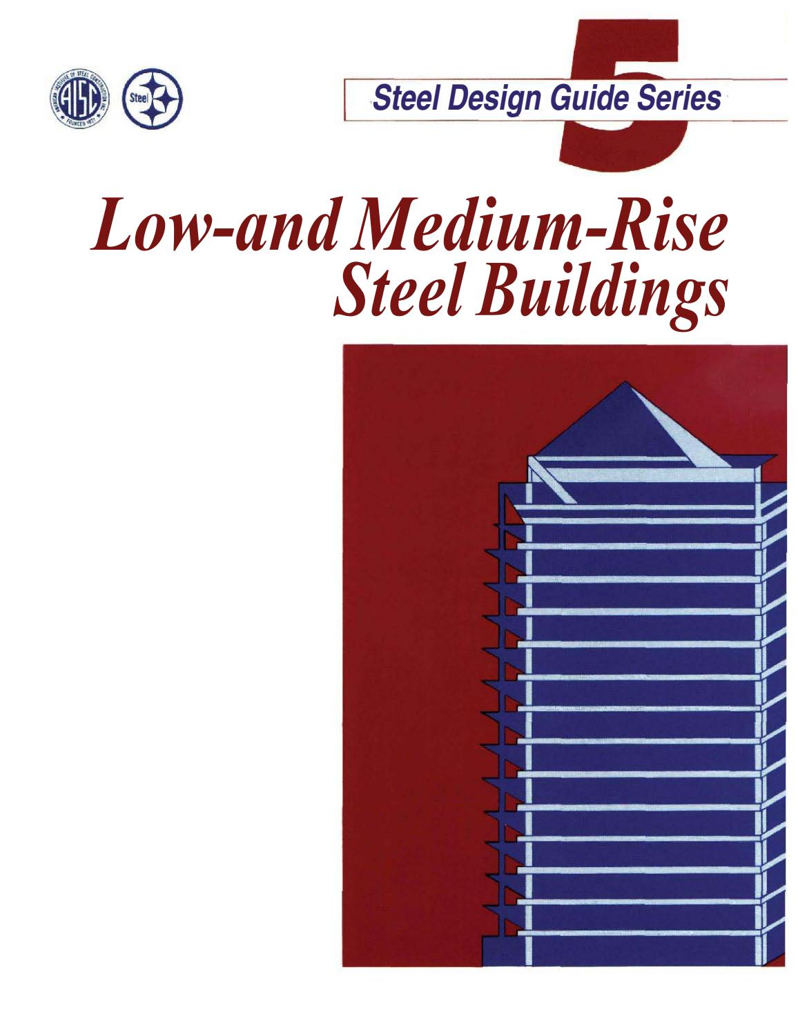 Aisc design guide 05 low and medium rise steel buildings by
