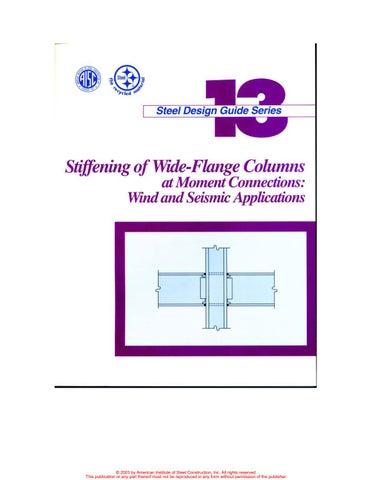 aisc design guide 13 stiffening of wide flange column at moment rh issuu com AISC 341 PDF AISC Seismic Design Manual 2010