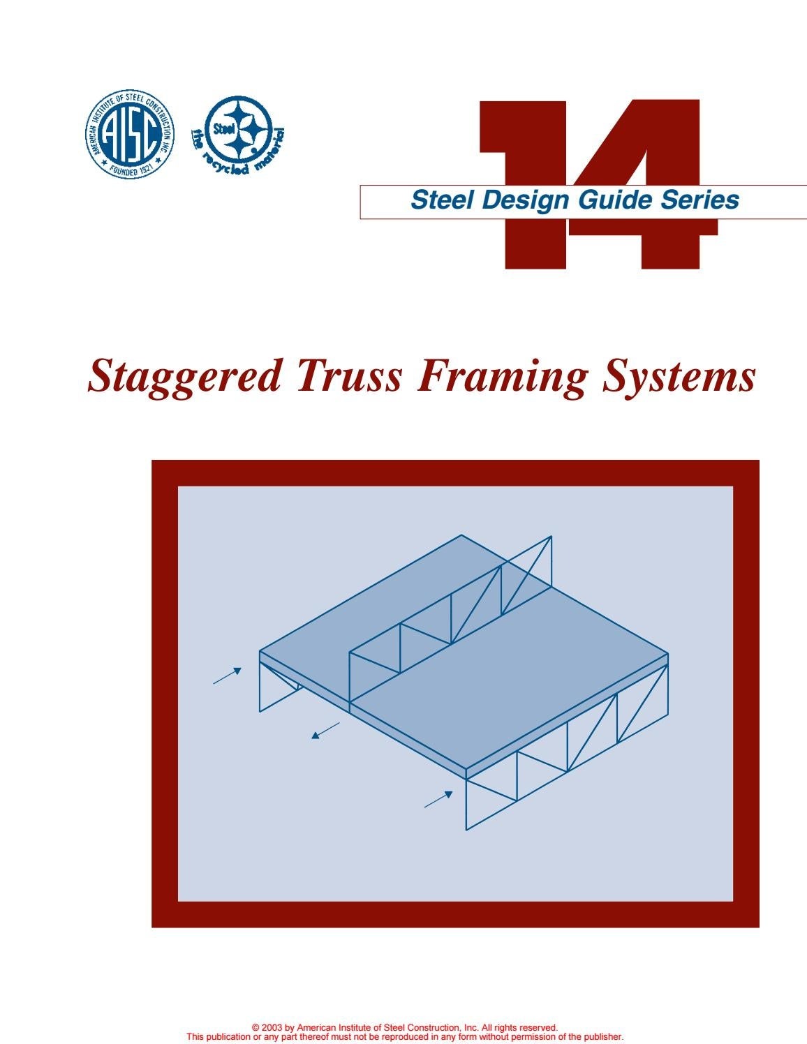 Aisc design guide 14 staggered truss framing systems by Pedro ...