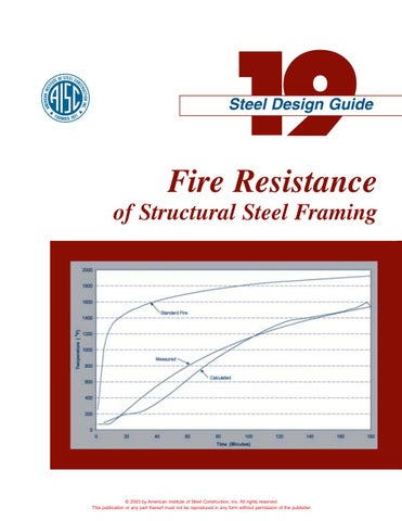 Aisc design guide 19 fire resistance of structural steel framing by ...
