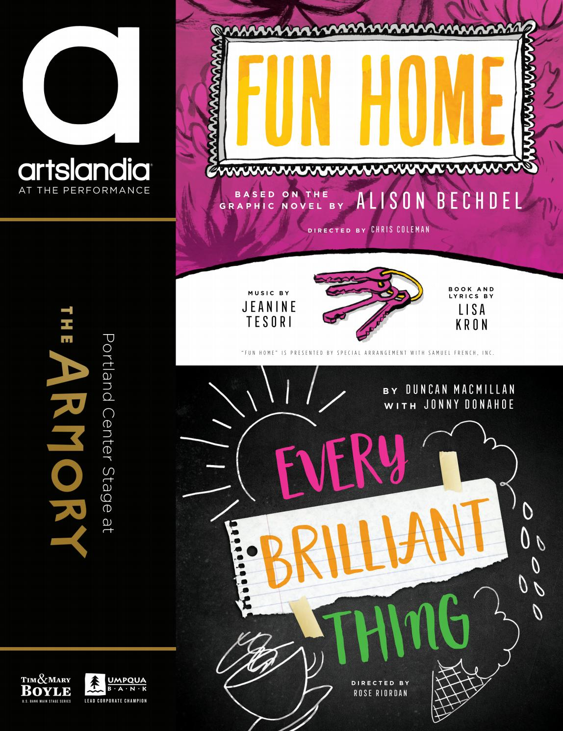 Fun Home Every Brilliant Thing The Armory At Portland