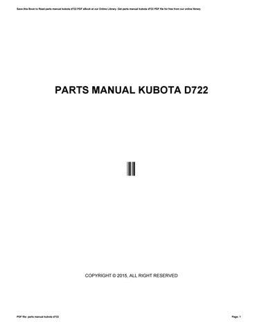 parts manual kubota d722 by dewie43phibi - issuu