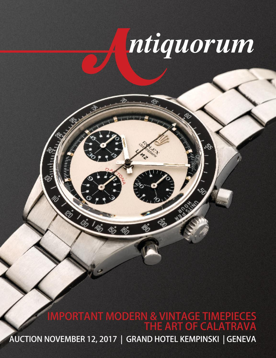 Important Modern & Vintage Timepieces The Art of Calatrava by Antiquorum  Genève SA - issuu