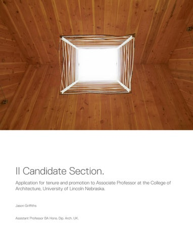 JG P+T Candidate Section II by Jason Griffiths - issuu
