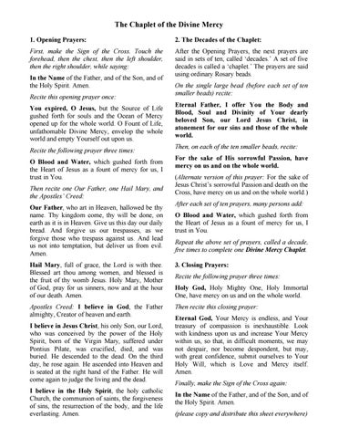 Divine Mercy Novena Pdf