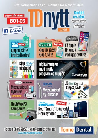 4de6e6d82cd TDnytt 4-2017 Nordental 2017 messeutgave by Tonne Dental AS - issuu