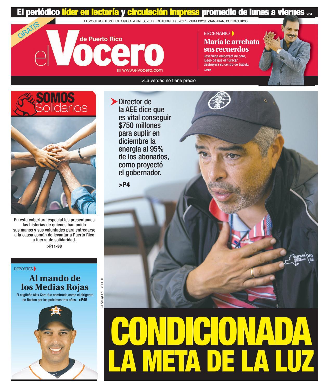 Edición del 21 de octubre de 2017 by El Vocero de Puerto Rico - issuu