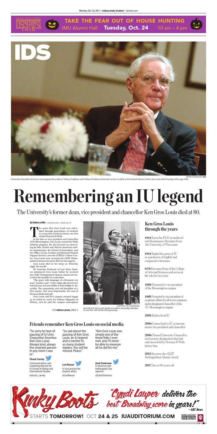 Monday, Oct  23, 2017 by Indiana Daily Student - idsnews - issuu