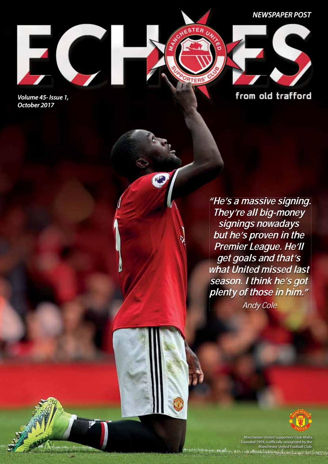 Echoes From Old Trafford October 2017 By Manchester United