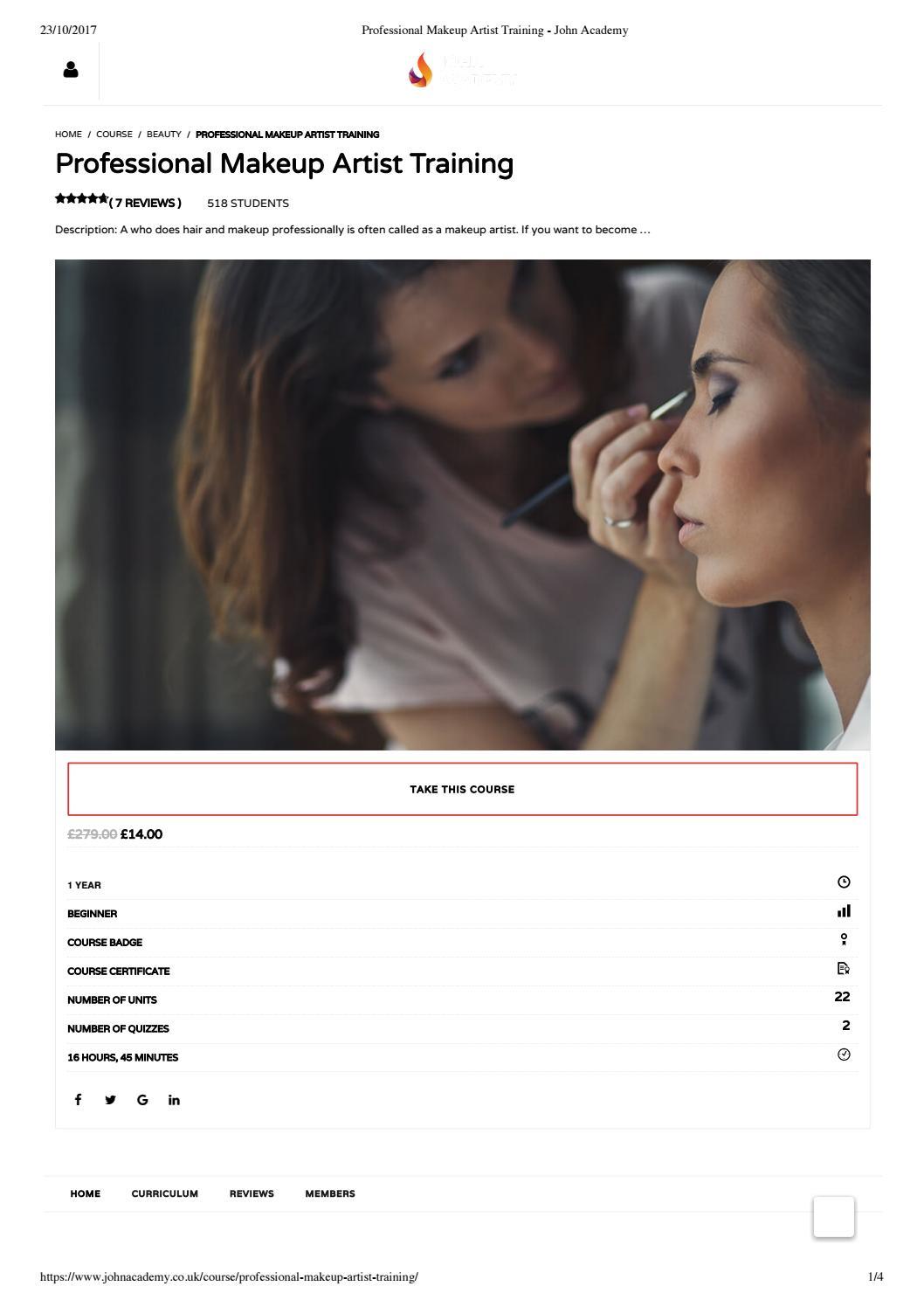 Professional Makeup Artist Training