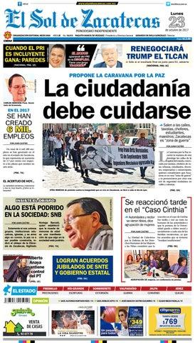 El Sol de Zacatecas 23 de octubre 2017 by El Sol de Zacatecas - issuu 4e57ecd4ef8