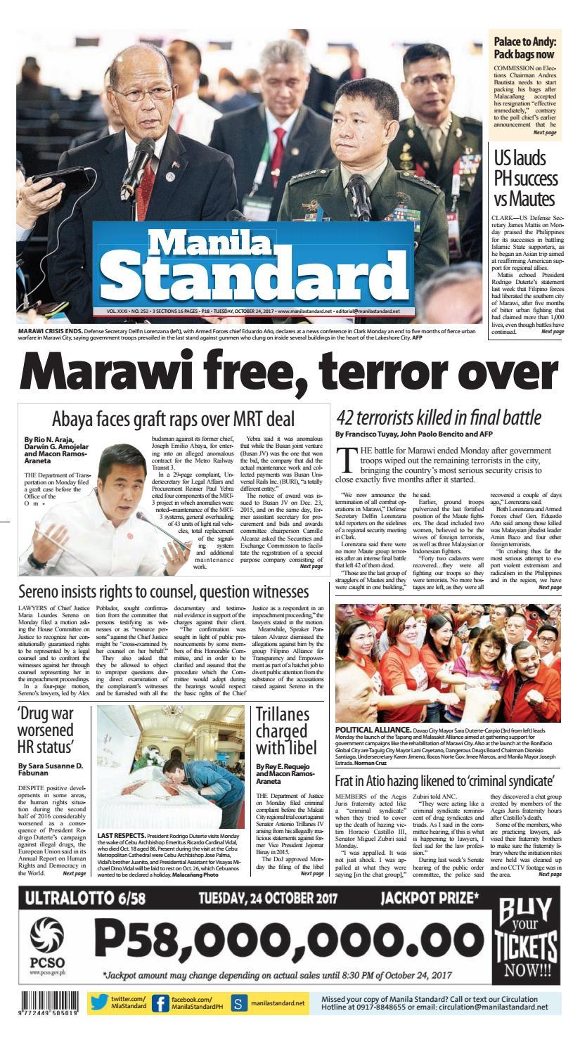 1744b2adc8c Manila Standard - 2017 October 24 - Tuesday by Manila Standard - issuu