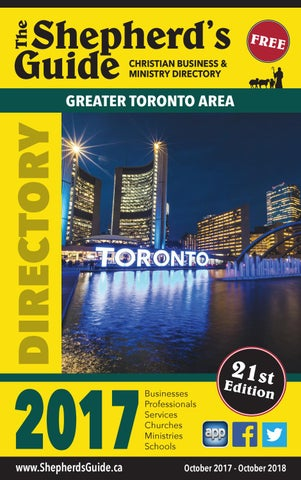 Greater Toronto Area Shepherds Guide By ShepherdsGuide