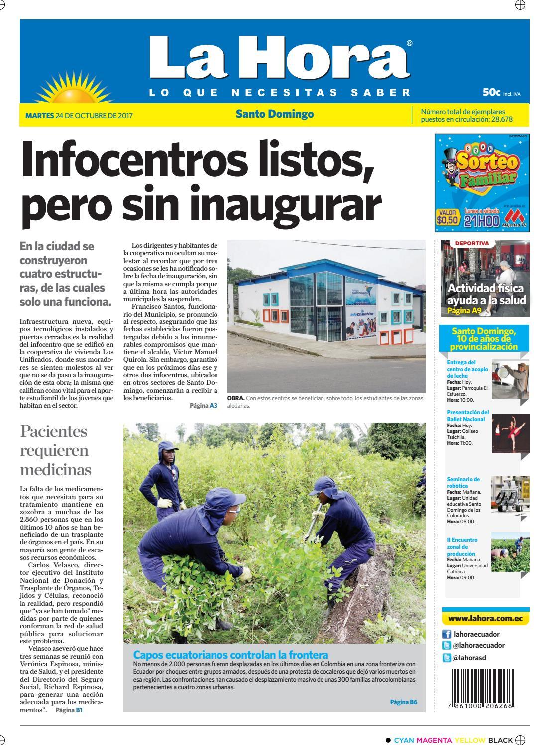 Santo Domingo 24 de octubre de 2017 by Diario La Hora Ecuador - issuu