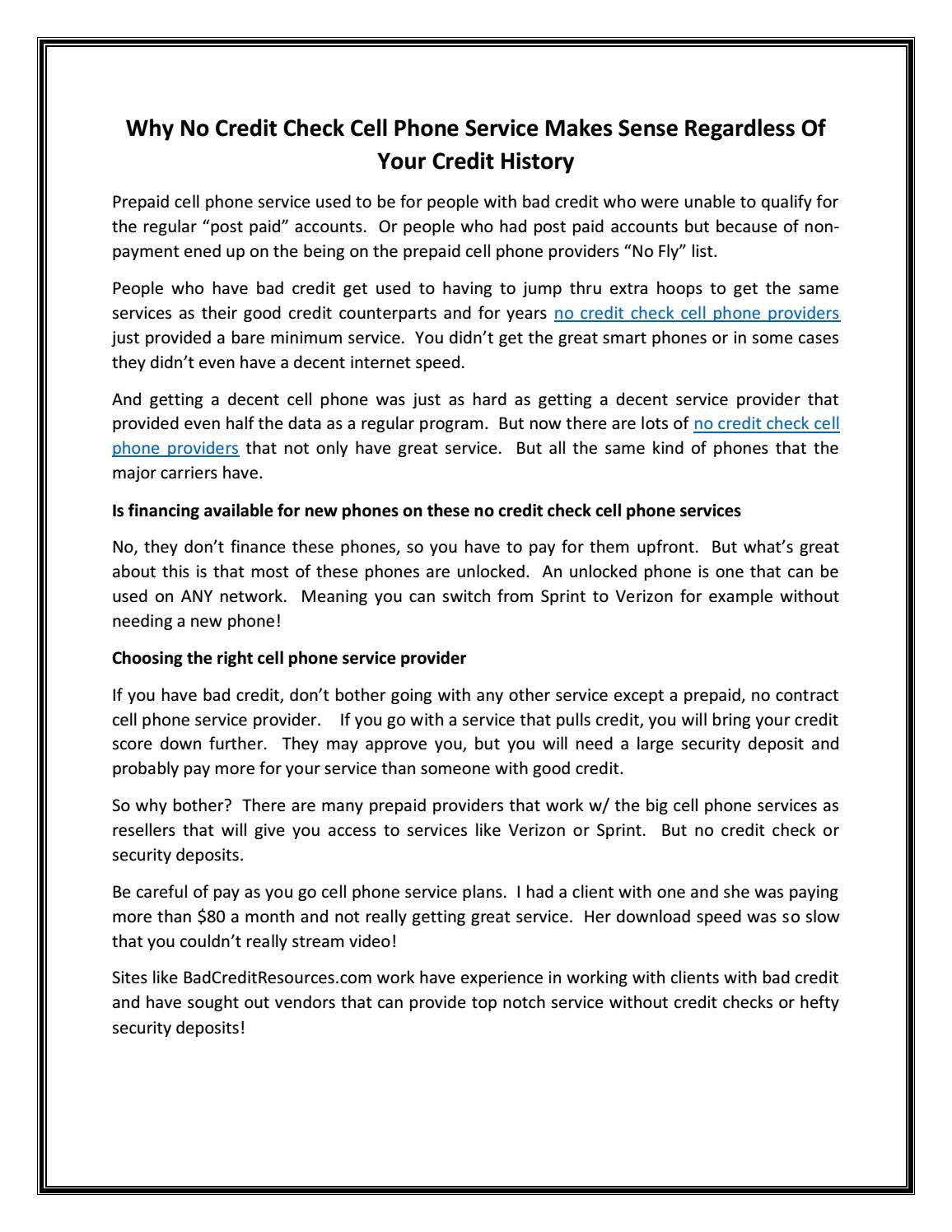 No credit check cell phone providers by Rosa Lini - issuu
