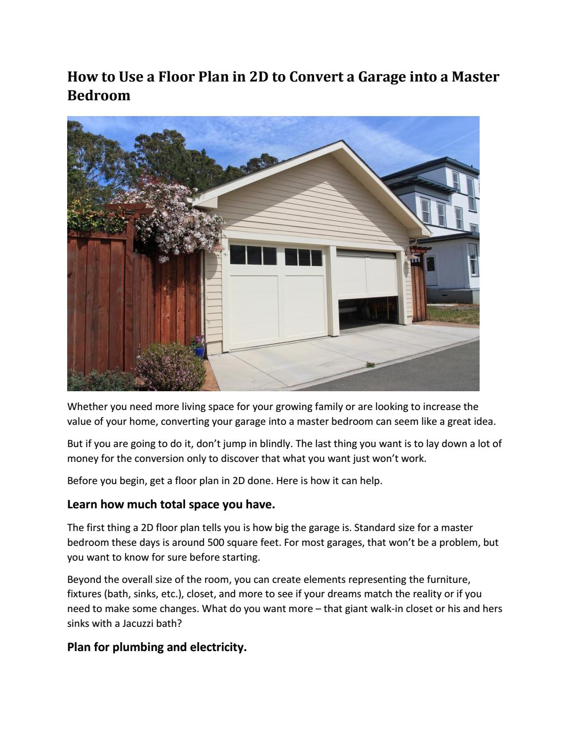 Mysiteplan How To Convert A Garage Into Master Bedroom