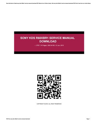 sony kds r60xbr1 service manual download by dinda21aulaia issuu rh issuu com sony kds-r60xbr1 manual sony kds-r60xbr1 manual