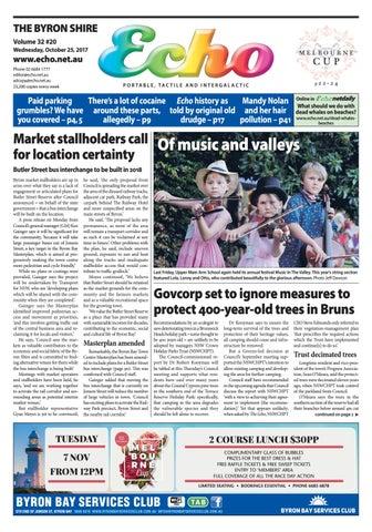 fa3c26ae01 Byron Shire Echo – Issue 32.20 – 25 10 2017 by Echo Publications - issuu