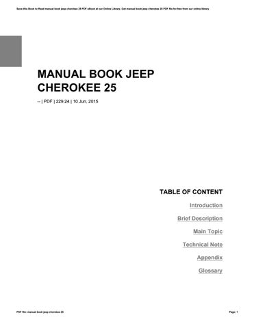 manual book jeep cherokee 25 by kanthi155dista issuu rh issuu com Cherokee Language Books Cherokee Medicine Books