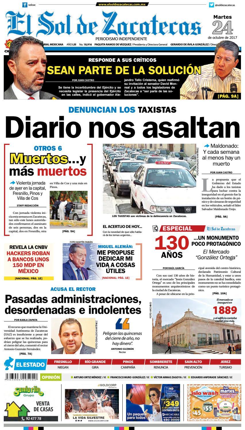 El Sol de Zacatecas 24 de octubre 2017 by El Sol de Zacatecas - issuu 4d2fb6f4e50