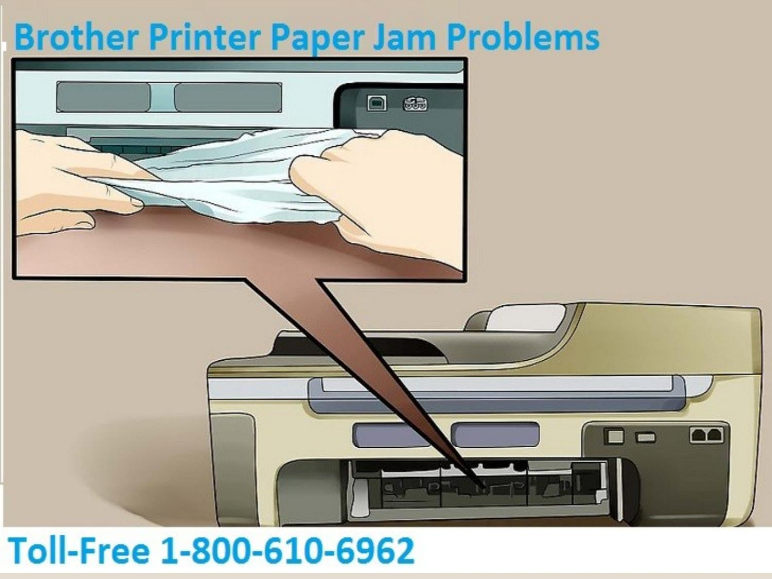 How To Fix Brother Printer Paper Jam Problems? +1 877-208