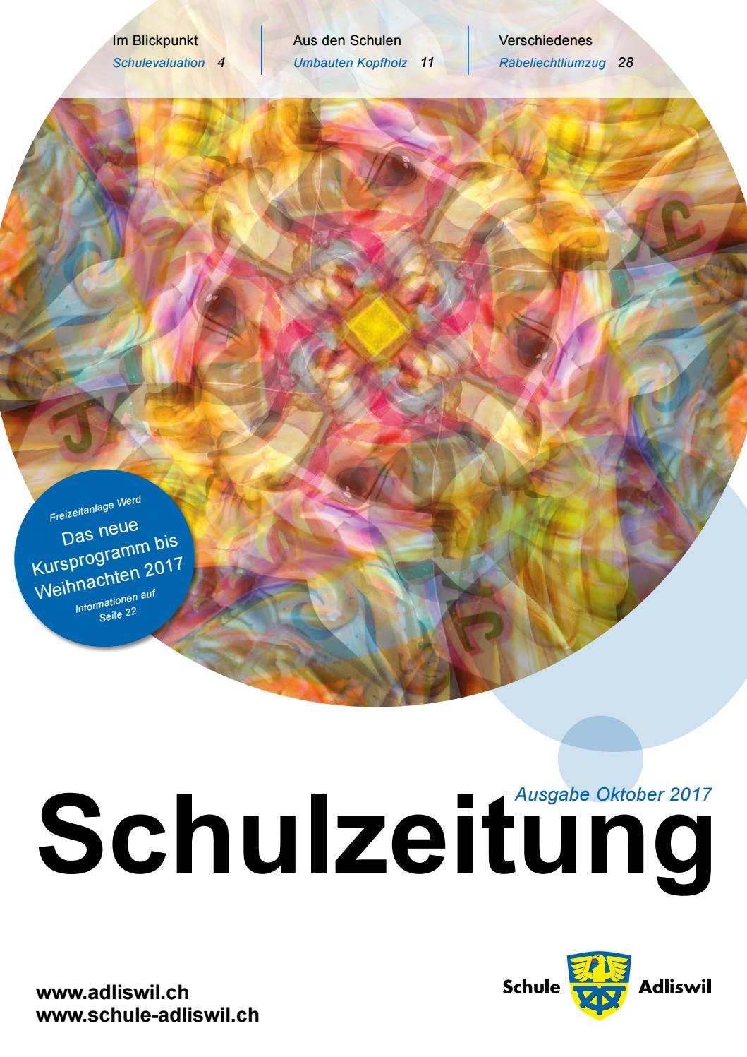 Schulzeitung adliswil oktober17 online by Schule Adliswil - issuu