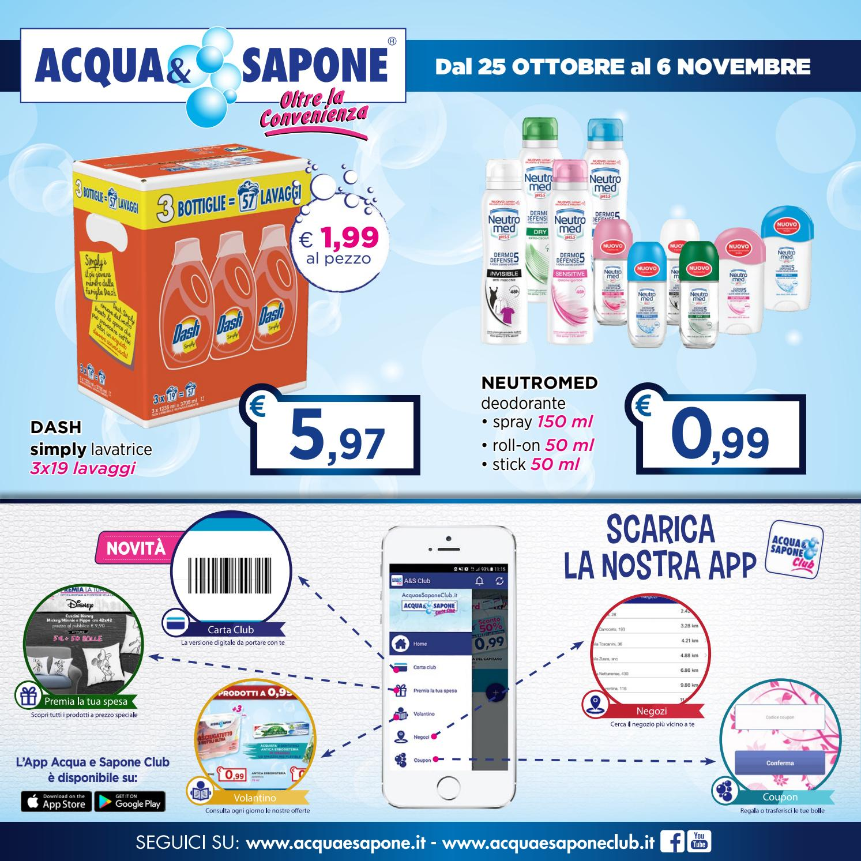 Volantino acqua sapone by acqua sapone asclub issuu for Asclub volantino