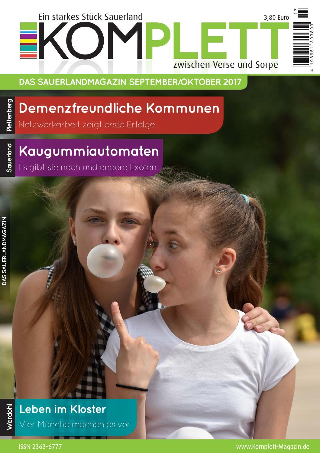 Komplett. Das Sauerlandmagazin. Zwischen Verse und Sorpe September ...