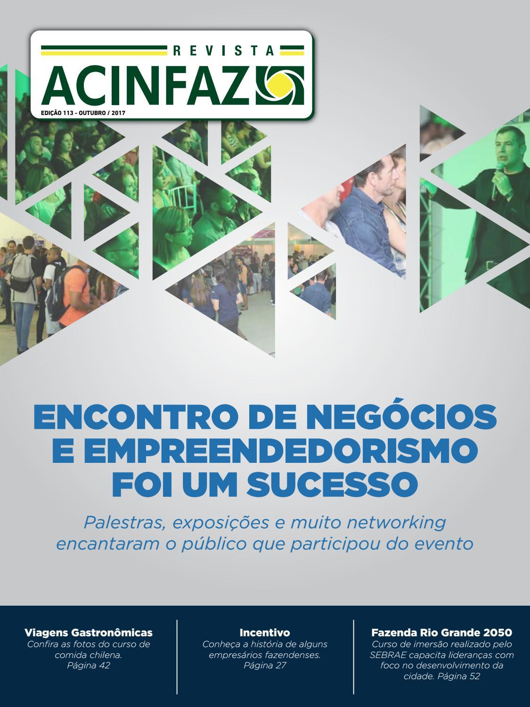 Revista ACINFAZ - Edição 113 (outubro 2017) by Associação Comercial e  Industrial de Fazenda Rio Grande (ACINFAZ) - issuu d6c5823096