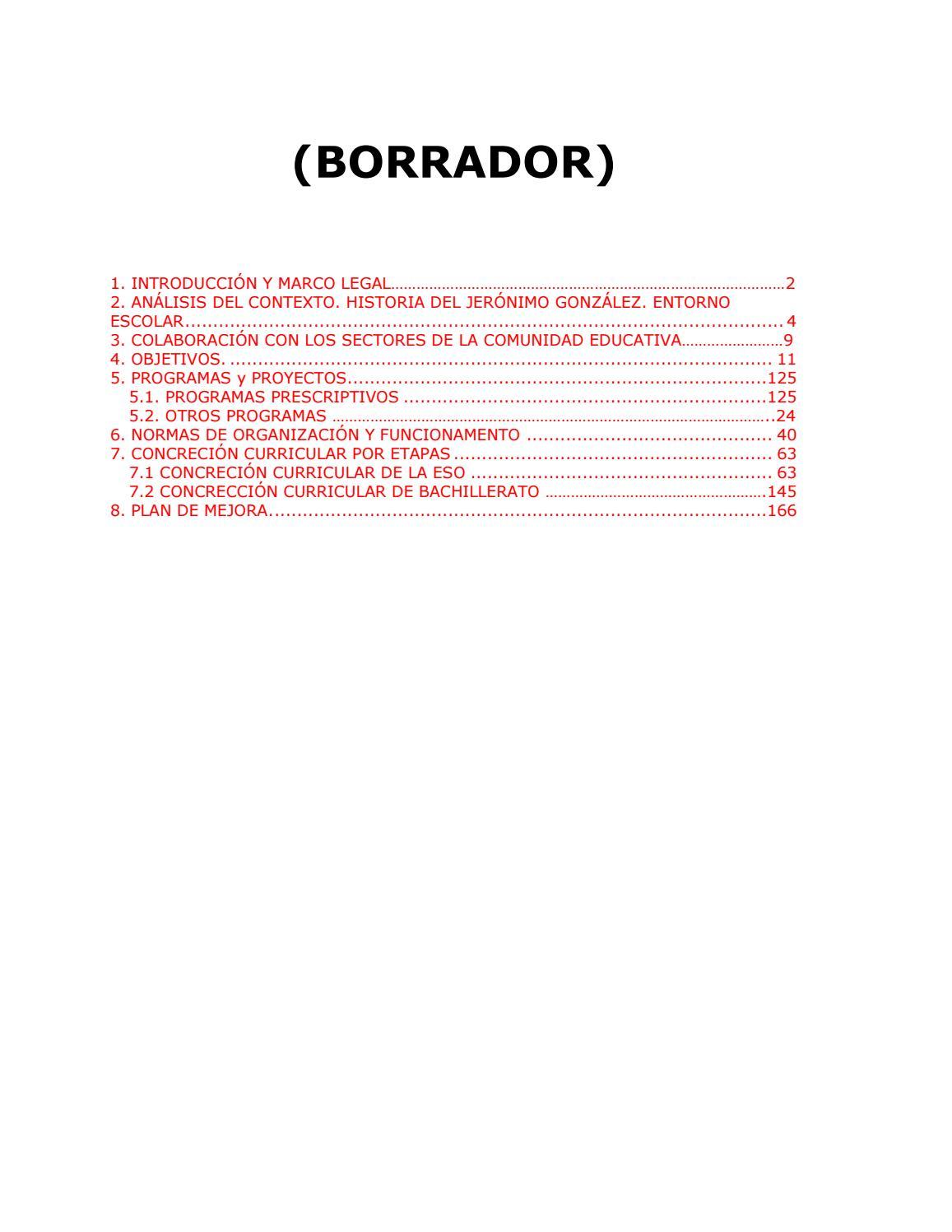Proyecto educativo 2017 2018 (borrador) by iesjeronimo gonzalez - issuu