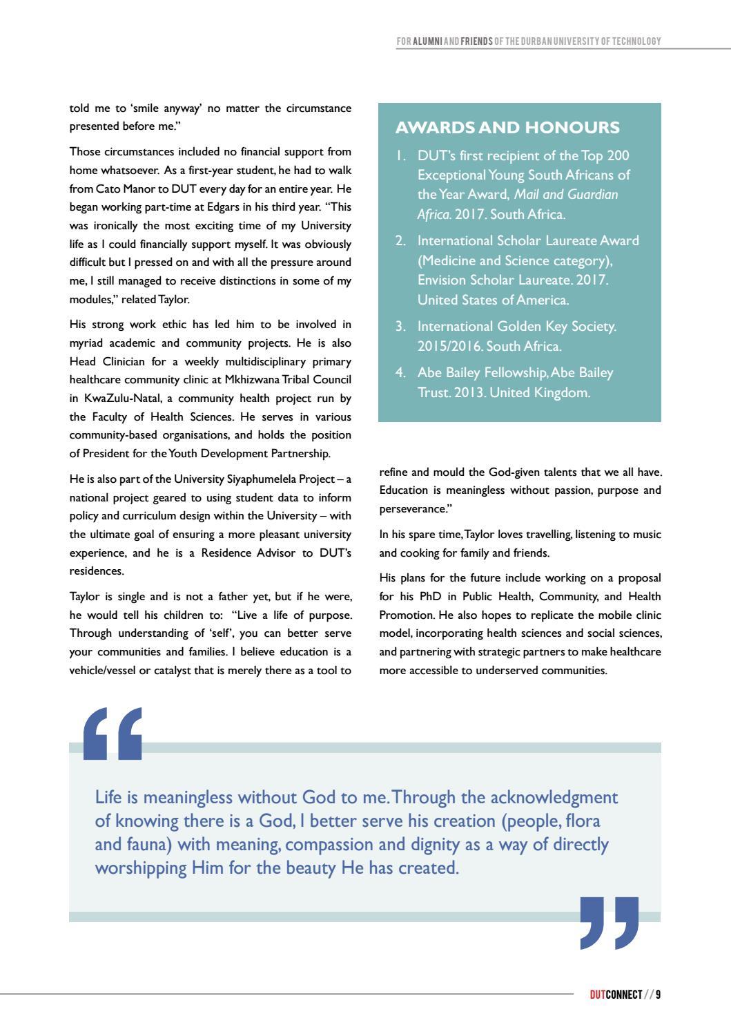 Dutconnect Spring 2017 issue by DUT Alumni - issuu