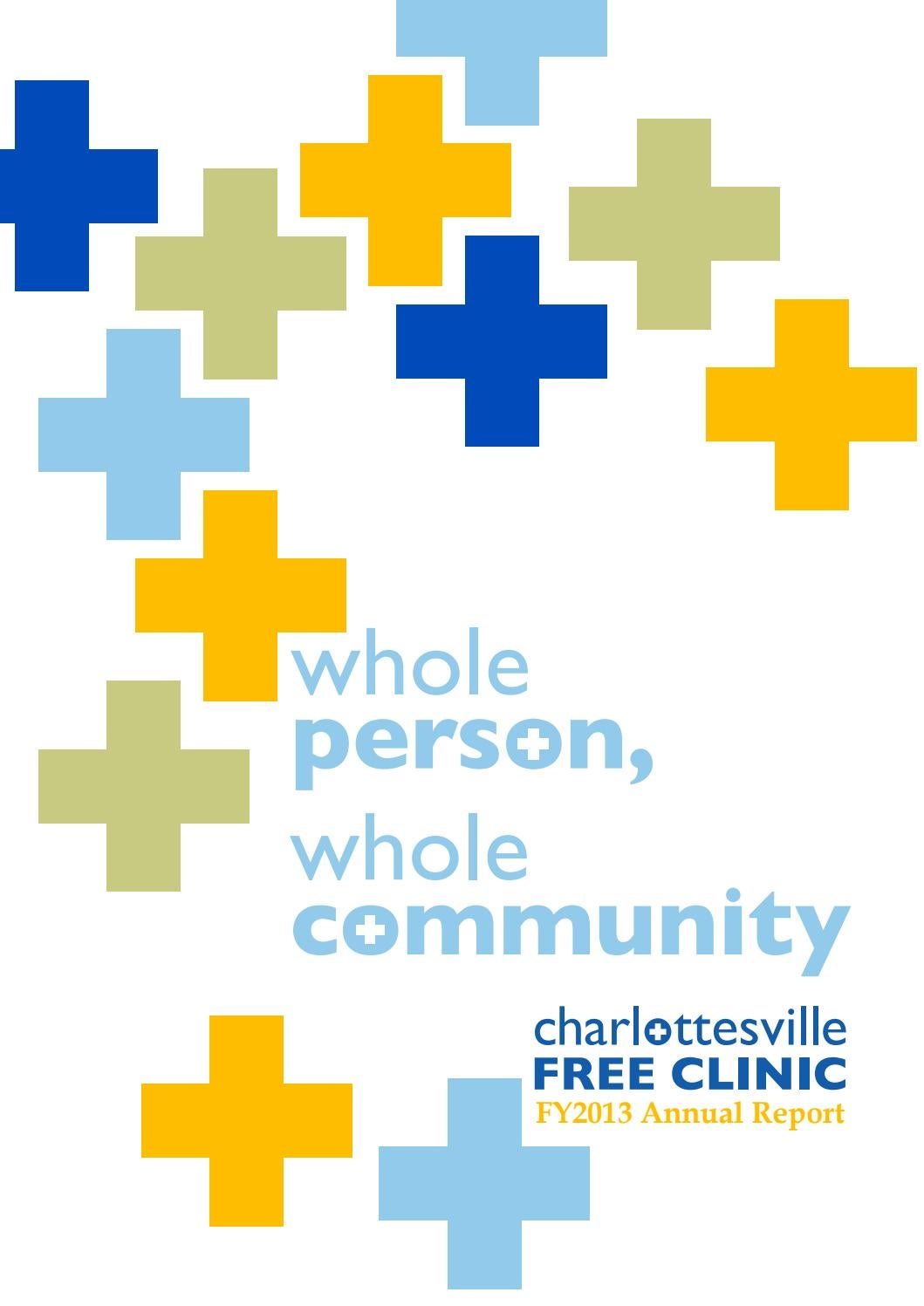 Whole Person, Whole Community - AR2013 by Charlottesville Free ...