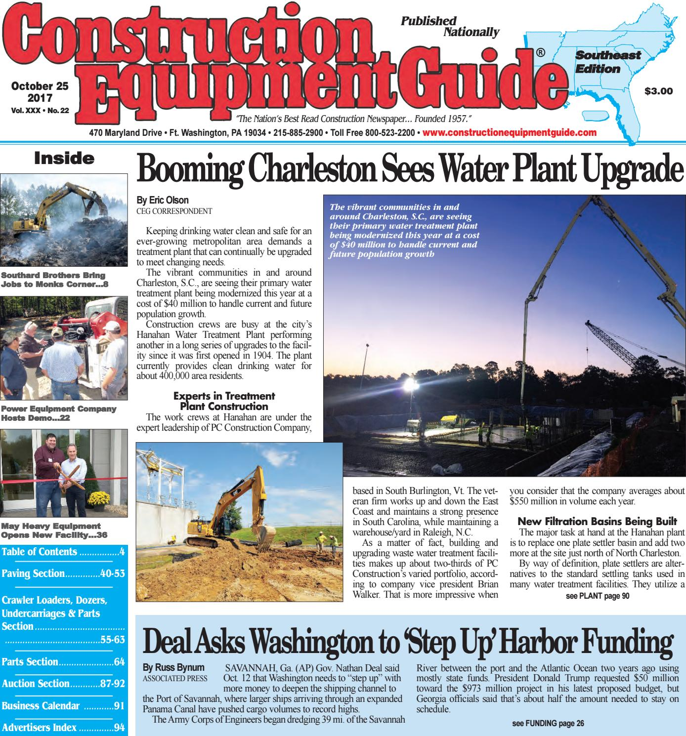 Southeast 22 October 25, 2017 by Construction Equipment Guide - issuu
