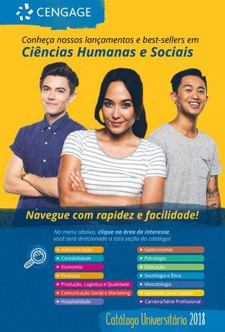 f75ceb54923f8 Catálogo Universitário 2018 - Ciências Humanas e Sociais - Cengage ...