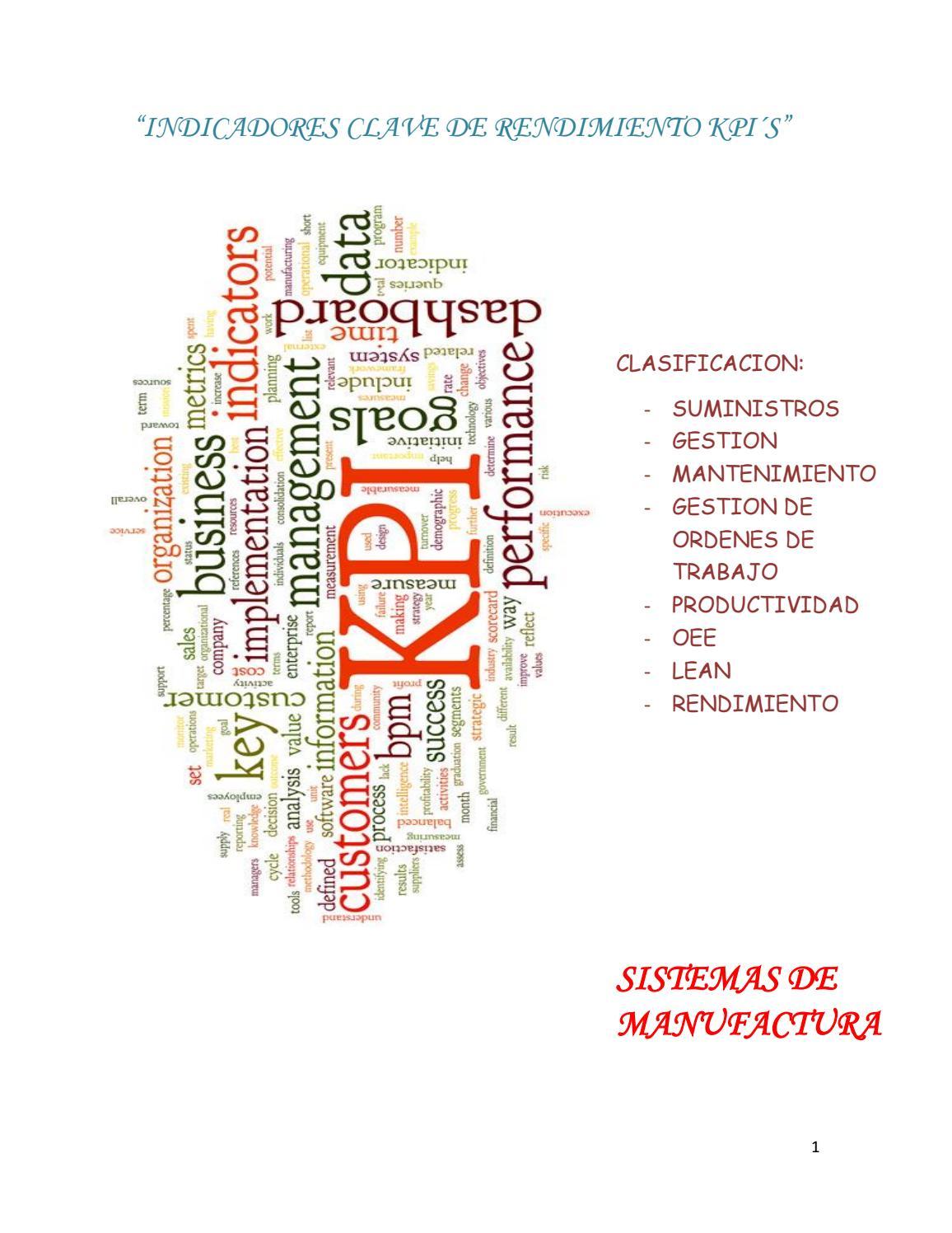 Indicadores clave de rendimiento kpi´s by tecnologico - issuu
