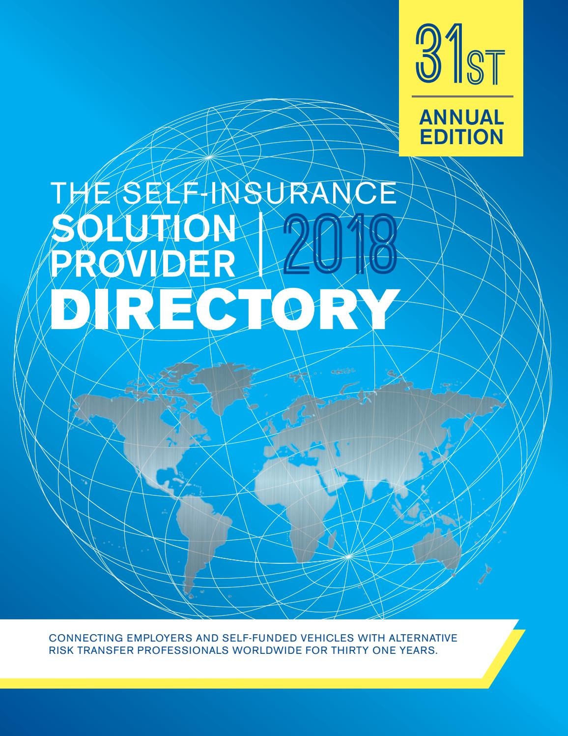 The Self Insurance Solution Provider Directory 2018 by SIPC