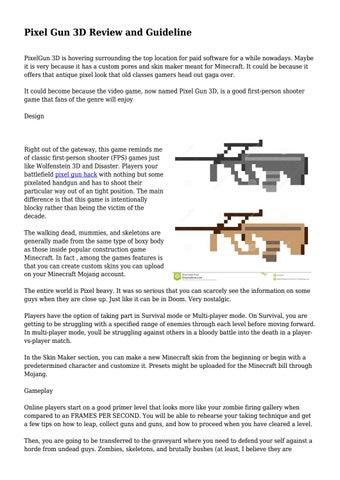 pixel gun 3d player stats