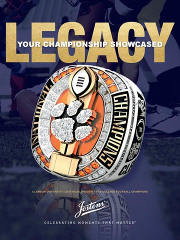 Jostens College Championship Sports Jewelry Catalog By
