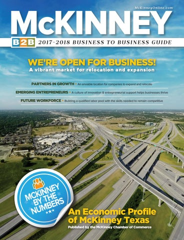 Mckinney Tx Chamber Of Commerce B2b Guide Business Directory 2018 By