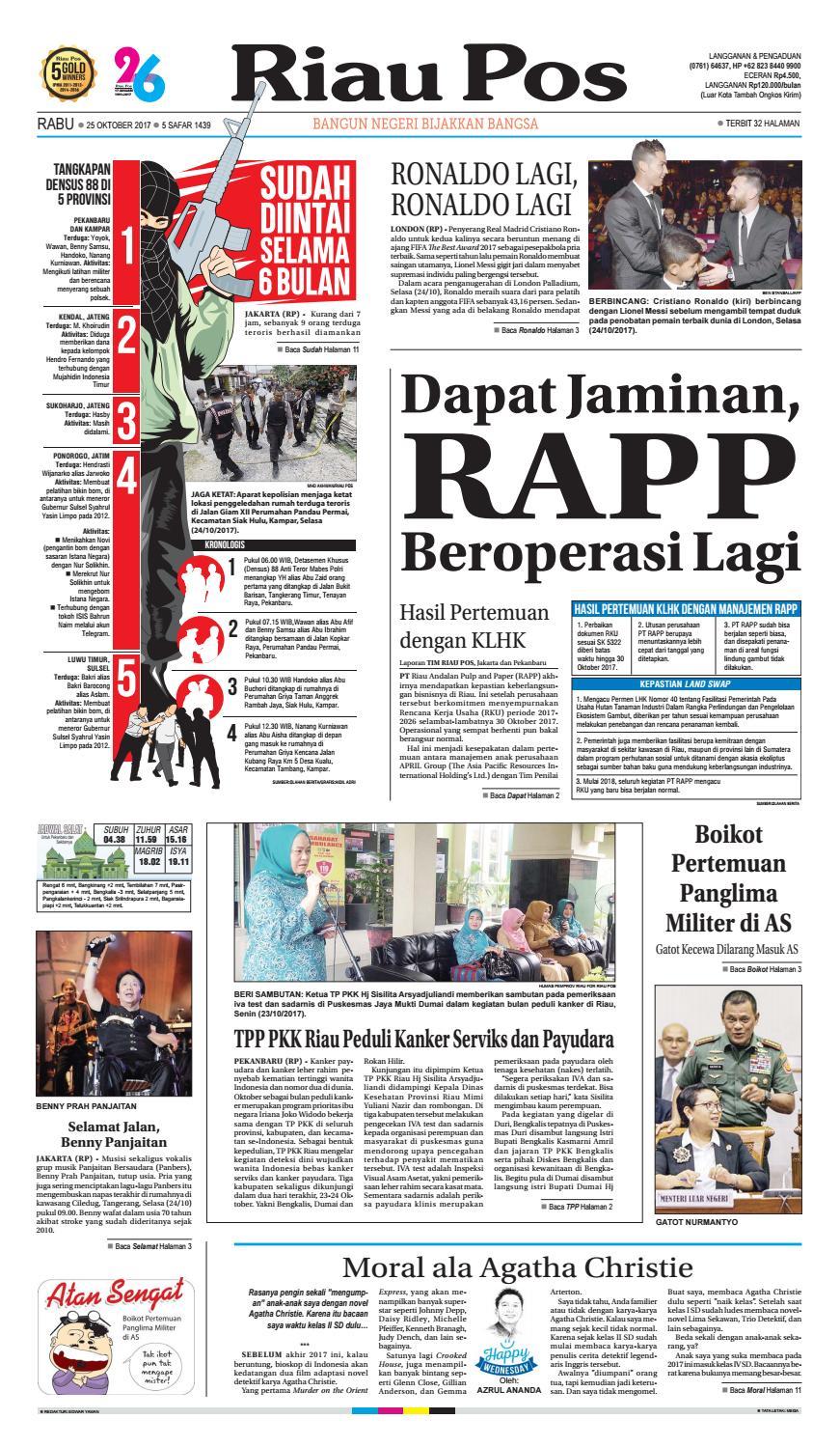 2017 10 25 By Riau Pos Issuu