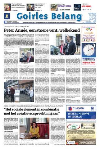 6b02d002485 Goirles Belang 25-10-2017 by Uitgeverij Em de Jong - issuu