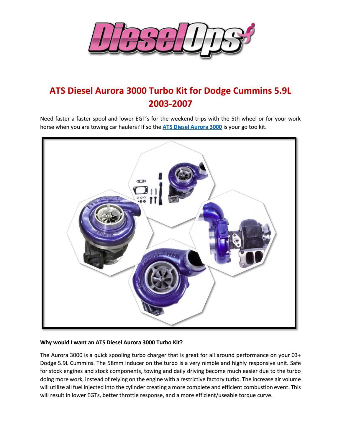 ATS Diesel Aurora 3000 Turbo Kit for Dodge Cummins 5 9L 2003